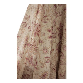 Antique 1860s French Faded Floral Pale Cotton Fabric For Sale