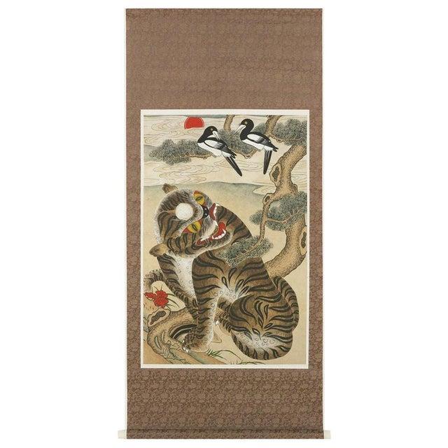 Korean Jakhodo Minhwa Folk Scroll Painting For Sale - Image 11 of 11