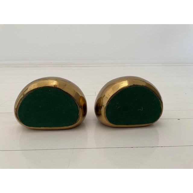 Mid-Century Modern 1950s Ben Seibel Brass Bookends - a Pair For Sale - Image 3 of 5