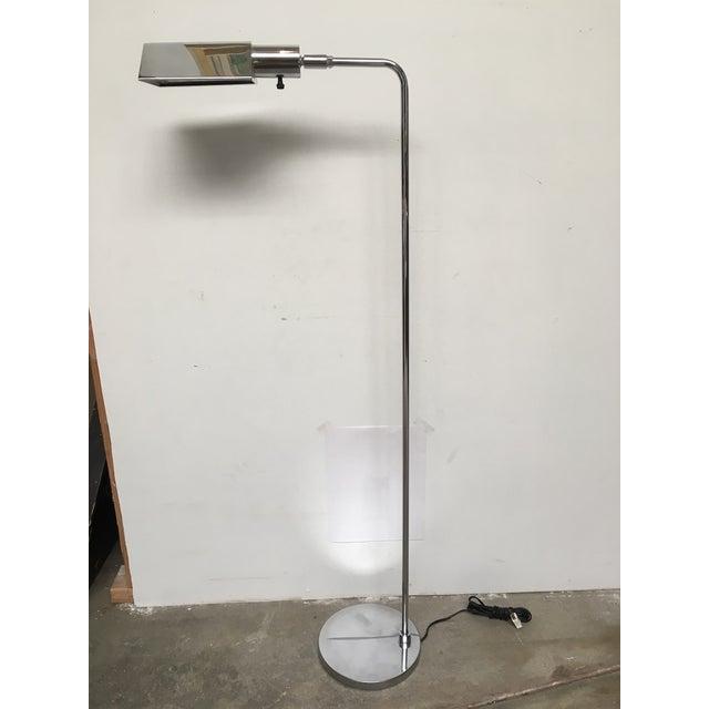 Koch & Lowy Koch & Lowy Chrome Tent Shade Pharmacy Lamp For Sale - Image 4 of 8