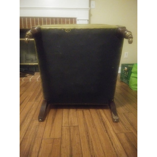George Smith Green Club Chair For Sale In Raleigh - Image 6 of 12