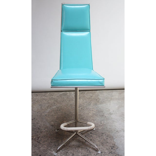 Set of Three American Modern High-Back Barstools by Jansko For Sale In New York - Image 6 of 13