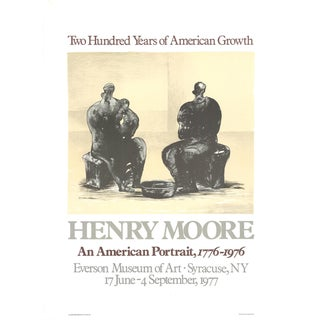 """HENRY MOORE 200 Years of American Growth 28.5"""" x 21"""" Lithograph 1975 - Set of 6 For Sale"""