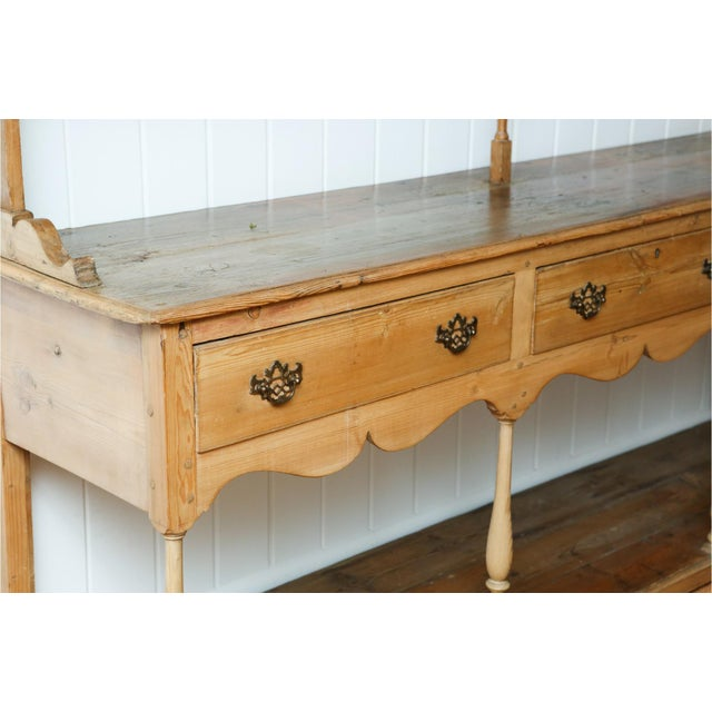 Classic 19th Century English Pine Cupboard With Pot Board Dresser A very large and superb quality 19th Century English...