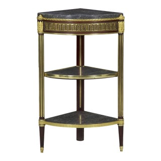 Antique French Louis XVI Style Accent Corner Table For Sale