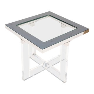 Modern Acrylic Side Table For Sale