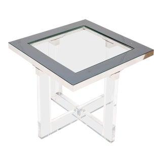 Sarreid Ltd Modern Acrylic Side Table For Sale