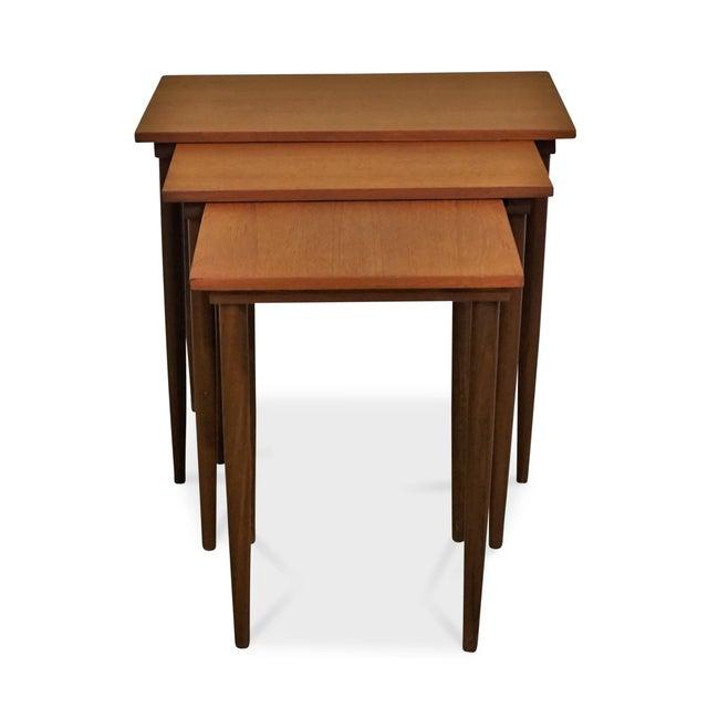 Mid-Century Modern Original Danish Mid Century Modern Nesting Tables - Steen For Sale - Image 3 of 7