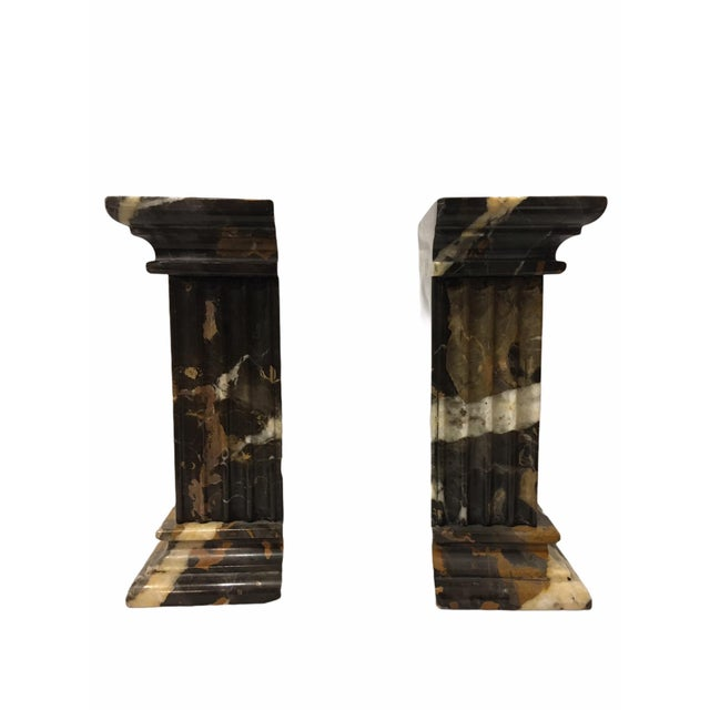 Vintage Neoclassical Marble Bookends - a Pair For Sale - Image 4 of 9