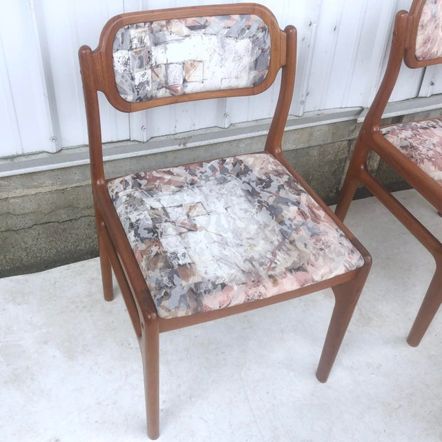 Mid-Century Modern Sculpted Teak Dining Chairs- Set of Four For Sale - Image 10 of 13
