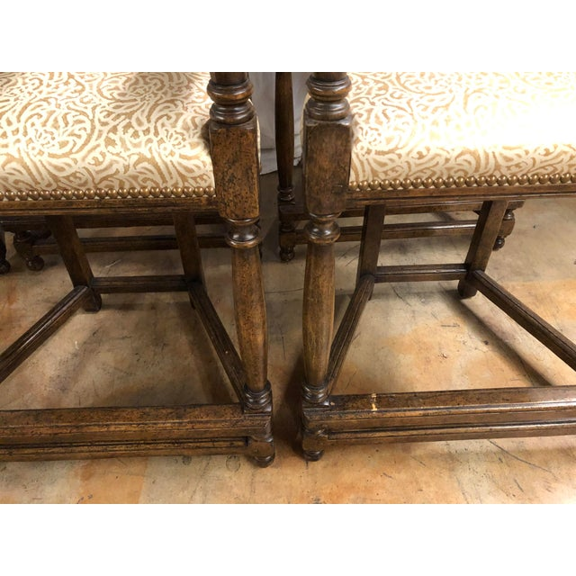 Dennis & Leen Louis XIII Style Counter Stools by Dennis & Leen - Set of 6 For Sale - Image 4 of 10