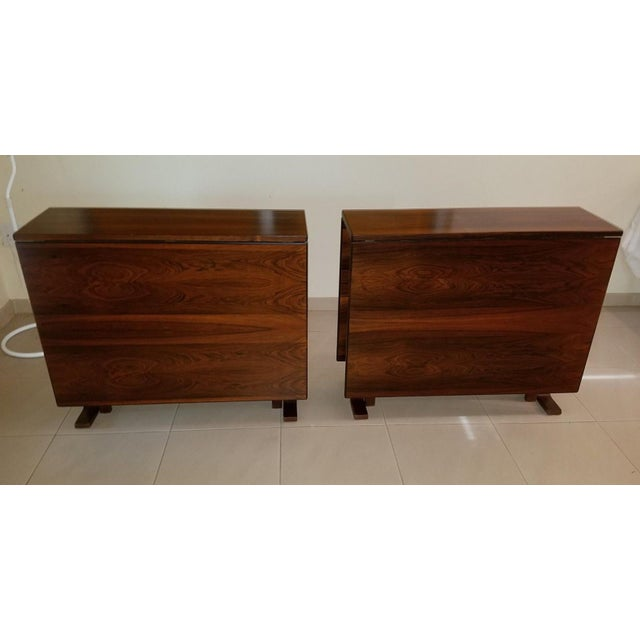 1970s Scandinavian Westnofa Rosewood Drop Leaf Banquet Dining Tables - a Pair For Sale - Image 10 of 10