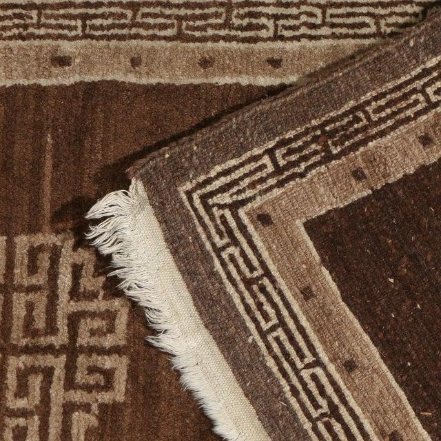Traditional Chocolate Brown Mongolian Throw Rug- 2′9″ × 5′6″ For Sale - Image 3 of 5