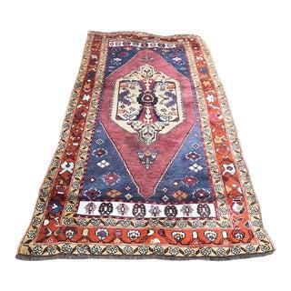Turkish Vintage Oushak Rug For Sale