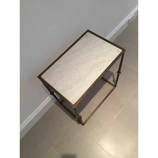 HD Buttercup Marble Top Side Table - Image 4 of 6