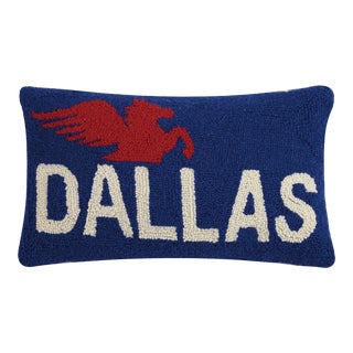 "Dallas Hook Pillow, 12"" x 20"" For Sale"