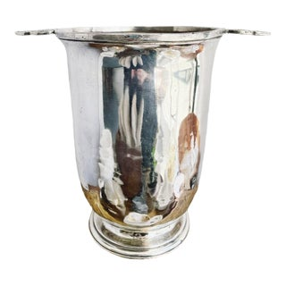 Antique Christofle Silver Champagne Bucket From Hotel Lutetia Paris For Sale