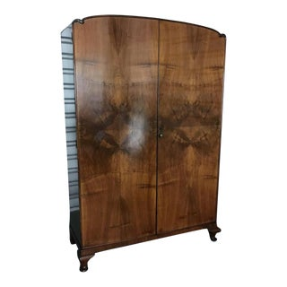 Antique 1930's Wooden Wardrobe / Armoire For Sale