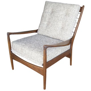 I B Kofod Larsen Armchair for Selig Stamped Label For Sale