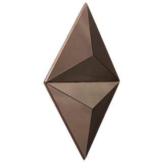 Contemporary Volume Bronze Mirror Convex, Pair For Sale
