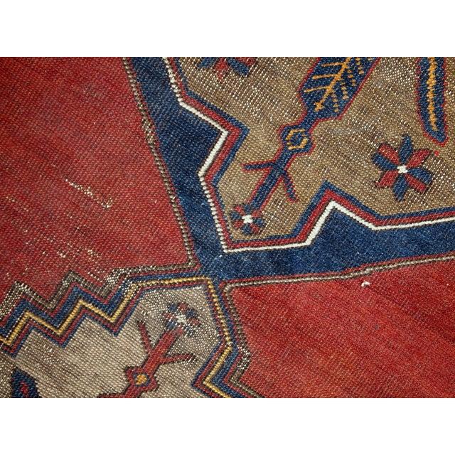 Antique Turkish Anatolian Rug - 4′1″ × 9′1″ - Image 8 of 10