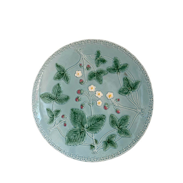 Aqua Majolica Platter, Germany For Sale - Image 9 of 9