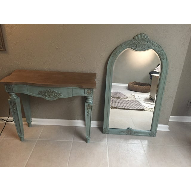 Vintage Console Table and Mirror - Image 8 of 8