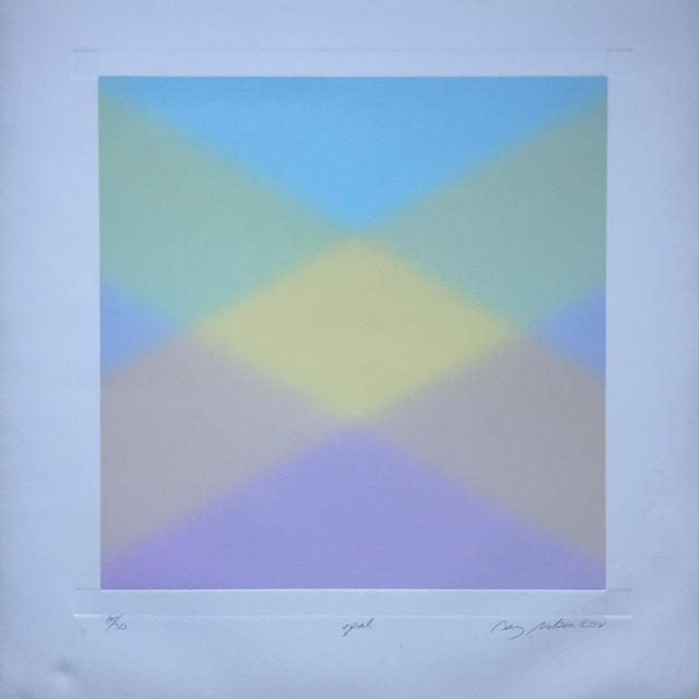 Barry Nelson 1978 Op-Art Etching Abstract - Image 8 of 9