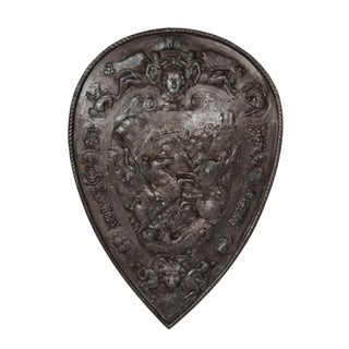 Antique Iron Decorative Shield
