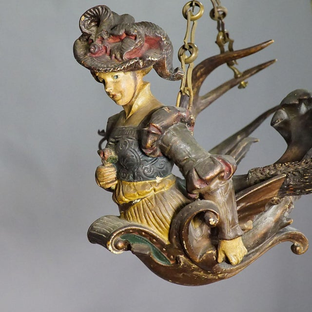 Late 19th Century Antique Lüsterweibchen of a Victorian Lady For Sale - Image 5 of 11