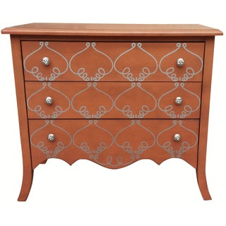 French Provincial Style Red Dresser