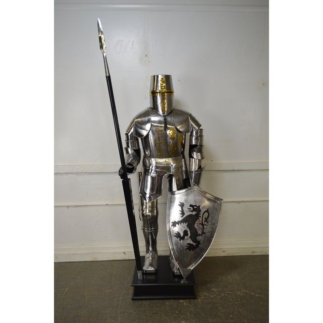 *STORE ITEM #: 16496-fwmr Crusader Knight Authentic Full Size Replica Jousting Suit of Armor DETAILS / DESCRIPTION: High...
