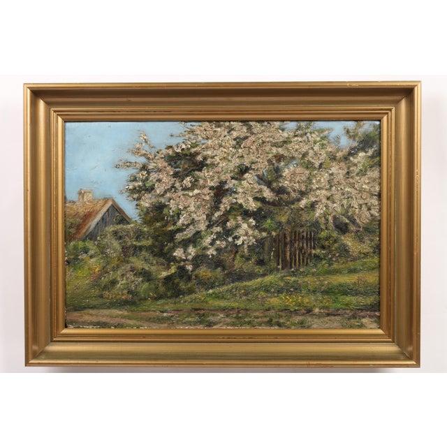 Danish Impression Oil Painting 'Flowering Tree' - Image 2 of 4