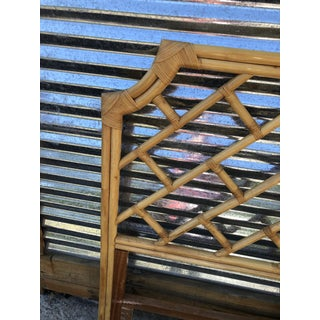Vintage Chinese Chippendale Bamboo Full Headboard Preview