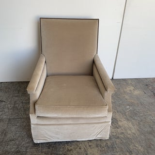 Ebanista Mohair Swivel Chairs - a Pair Preview
