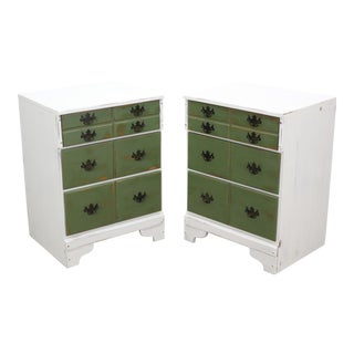 Pair of Mid-Century 3-Drawers Nightstands, Provincial Nightstands For Sale