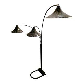 Modern Black and Gold Vintage Floor Lamp For Sale