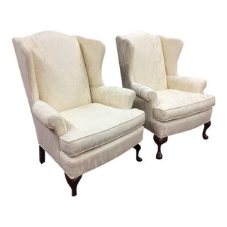 1980s Vintage Pennsylvania House Wing Back Chairs- a Pair For Sale