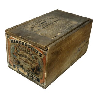 Antique Wood Laundry Starch Shipping Crate For Sale