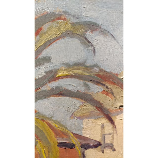 """Fritz Kocher """"Sunset Blvd and Bunkerhill L.A. 1959"""" Original Oil Painting For Sale In Los Angeles - Image 6 of 11"""