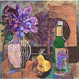 'Still Life in Lilac and Jade' by Gray Layton, Mississippi Modernist Woman Artist, Peabody College For Sale
