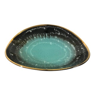 Mid Century German Pottery Decorative Bowl Dish For Sale