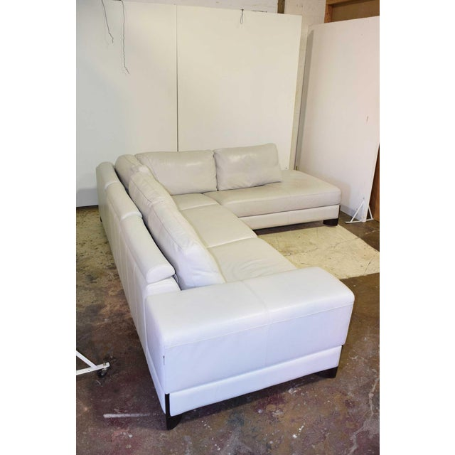Italian Leather Sectional Sofa For Sale In Dallas - Image 6 of 9