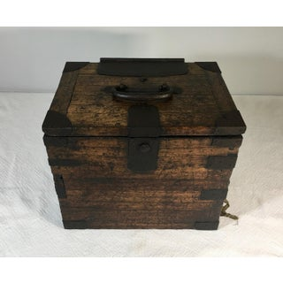 Antique Japanese Calligraphy Box With Key Preview