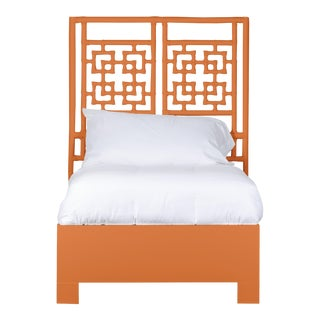 Palm Springs Bed Twin Extra Long - Orange For Sale