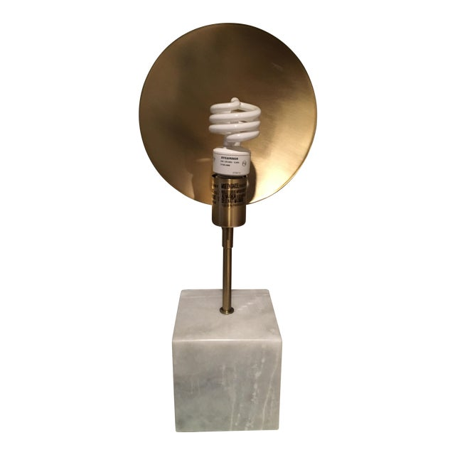 Modern Marble & Metal Directional Table Lamp - Image 1 of 8