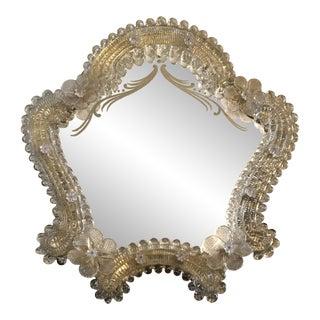 Italian Venetian Mid Century Murano Vanity Boudoir Mirror For Sale