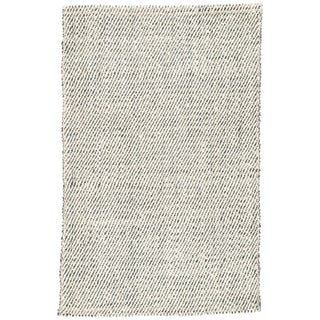 Jaipur Living Almand Natural Solid White/ Gray Area Rug - 5' X 8' For Sale