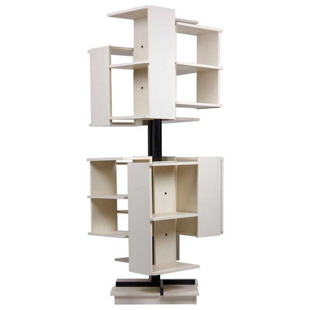 Rotating Wooden Bookshelf by Claudio Salocchi for Sormani, Italy For Sale - Image 10 of 10