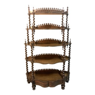 Antique Eastlake Victorian 5-Tier Etagere Bookcase